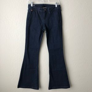 True Religion Emi Flare Dark Wash Jeans 28